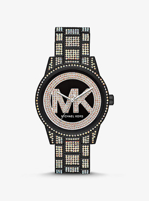 Michael Kors Ritz Pave Black-Tone Watch