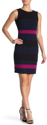 Tommy Hilfiger Scuba Crepe Colorblock Dress