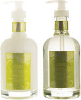 Mosaiq Mint Leaf & Lime 2Pc Hand Soap & Lotion Glass Bottle Set