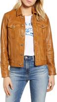 Lucky Brand Leather Trucker Jacket