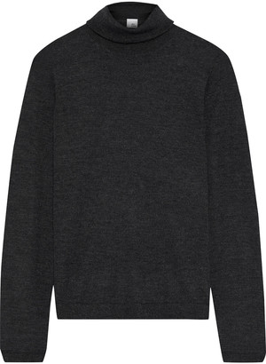 Iris & Ink Katri Cashmere And Silk-blend Turtleneck Sweater