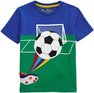 Boden Kids' Sporty Applique T-Shirt