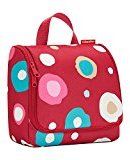 Reisenthel Toiletbag, Wash Bag, Beauty Case, Make-Up Bag, Cosmetic Bag, Hanging Bag, Funky Dots 2 (Red), WH3048