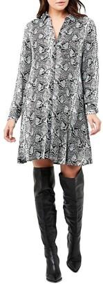 Ripe Snake Print Shirt Dress