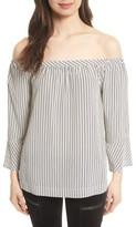 Joie Women's Dinora Off The Shoulder Stripe Silk Top