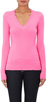 Barneys New York WOMEN'S CASHMERE V-NECK SWEATER-PINK SIZE XS