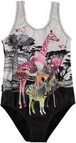 Molo Nika One-Piece Safari Animal Swimsuit, Size 2-14