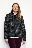 Classic Women's Plus Size Travel Primaloft Jacket-Black Brushed Dots