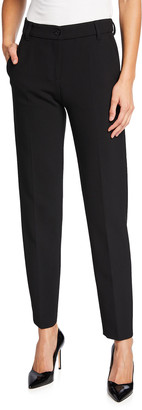 Emporio Armani Stretch Cady Full-Length Trousers