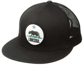 Linksoul LS842 - California Trucker Hat (Black) Baseball Caps