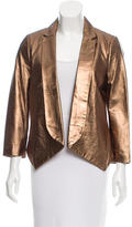 Rebecca Minkoff Metallic Leather Blazer w/ Tags