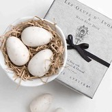 L'Oeufs d'Ivoire Soaps in Porcelain Nest Dish by Gianna Rose Atelier