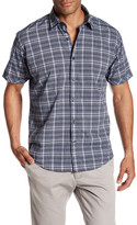 James Campbell Tecate Short Sleeve Plaid Print Regular Fit Woven Shirt