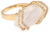 Maiyet Women's 18K Yellow Gold, Moonstone & 10.16 Total Ct. Diamond Ribcage Cocktail Ring