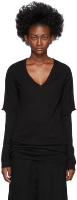 Rick Owens Black Zionic V-Neck Sweater