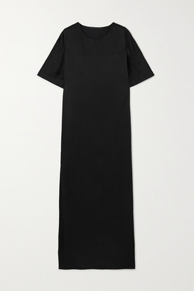 Haider Ackermann Hammered-satin Maxi Dress - Black