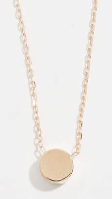 Adina 14k Gold Super Tiny Disc Necklace
