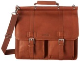 Kenneth Cole Reaction Mind Your Own Business Colombian Leather Flapover 15 Computer Portfolio Computer Bags