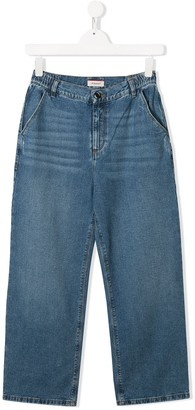 Pinko Kids TEEN straight-leg denim jeans