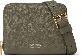 Tom Ford Full-Grain Leather Zip-Around Wallet With Lanyard