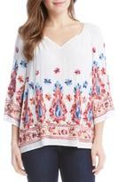 Karen Kane Women's Embroidered Split Neck Blouse