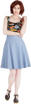Bea Yuk Mui & Dot Partake in Peppermint Skirt in Chambray