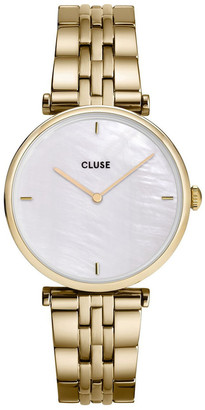 Cluse Triomphe CW0101208014 5-Link White Pearl/Gold