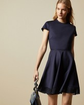 Ted Baker Mesh Detail Skater Dress