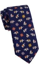 Salvatore Ferragamo Animal-Print Silk Tie