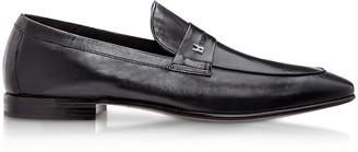 Moreschi Brisbane Black M Kangaroo Leather Loafer Shoes