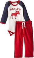 Hatley Baby Boys' Raglan Bodysuit and Pant Set Moose