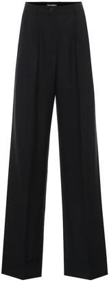 Dolce & Gabbana High-rise wide-leg wool-blend pants