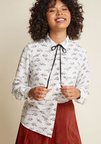 Sugarhill Boutique Dino What You Mean Button-Up Top in 14 (UK)