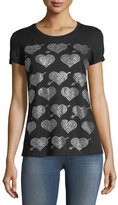Romeo & Juliet Couture Rhinestone Heart T-Shirt