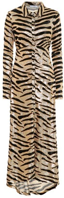 Paco Rabanne Tiger-print velvet shirtdress