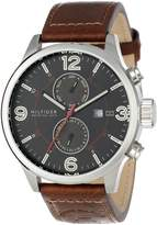 Tommy Hilfiger Men's Casual Sport Brown Leather Multi-Eye Watch 1790892