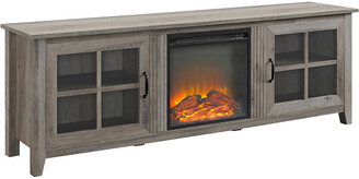 Hewson 70In Traditional Wood Fireplace Media Console