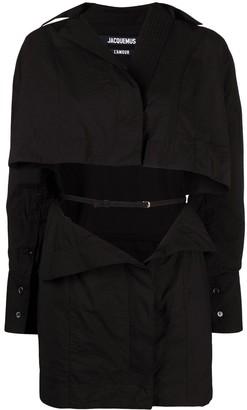 Jacquemus Open-Front Shirt Dress