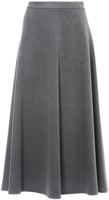 Max Mara Flared Jersey Midi Skirt