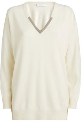 Fabiana Filippi Chain Detail V-Neck Sweater
