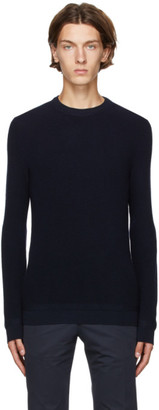Ermenegildo Zegna Navy Cashmere Crewneck Sweater