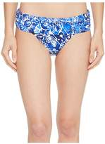 Lauren Ralph Lauren Playa Floral Classic Shirred Banded Hipster Bottom Women's Swimwear