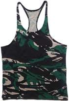 Q&Y Men's Camouflage Y-Back Muscle Stringer Tank Tops Sport Training Undershirt M