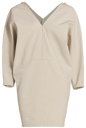 Rick Owens Release Puff-Sleeve Mini Dress