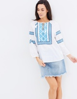 Seafolly Folk Embroidered Top