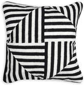 Jonathan Adler Black And White Bargello Windmill Throw Pillow