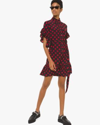 Michael Kors Collection Ruffle Sleeve Shirt Dress