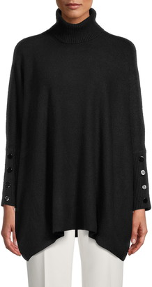 Anne Klein Drop Shoulder Turtleneck Sweater
