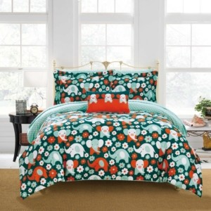 Chic Home Elephant Reprise 6 Piece Twin Bed In a Bag Comforter Set Bedding