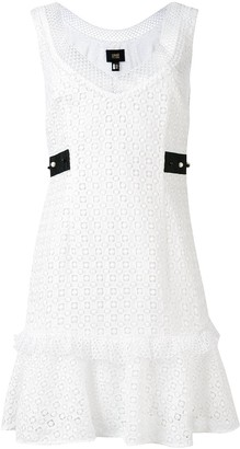 Class Roberto Cavalli embroidered ruffled-trim dress